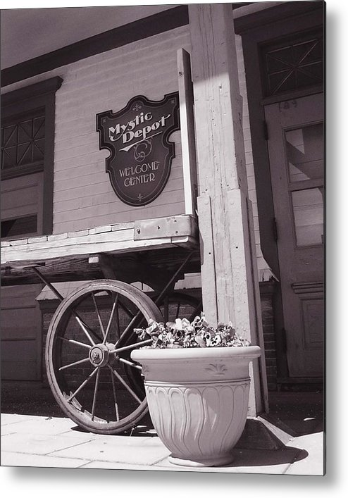 Train Metal Print featuring the photograph Mystic Depot by Heather Weikel