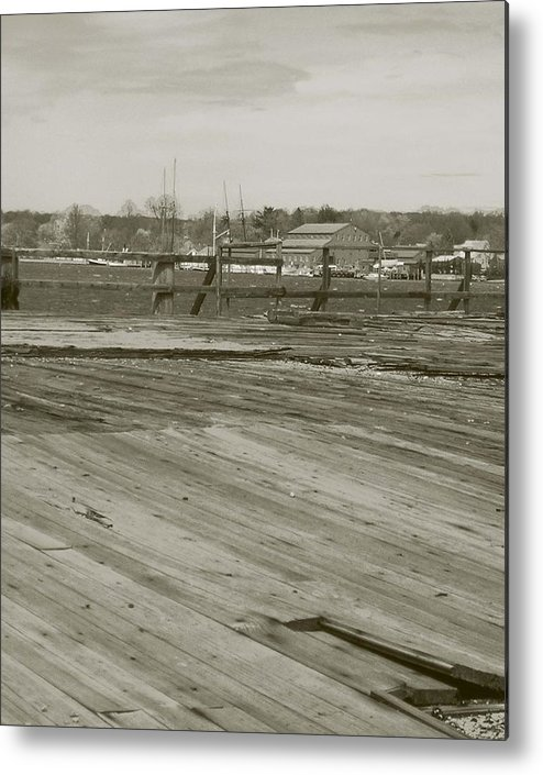 Mystic Dock Metal Print featuring the photograph Mystic Dock by Heather Weikel