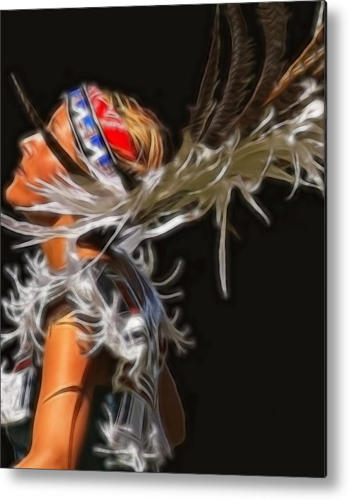 Native Metal Print featuring the photograph Native Maiden by Gene Praag