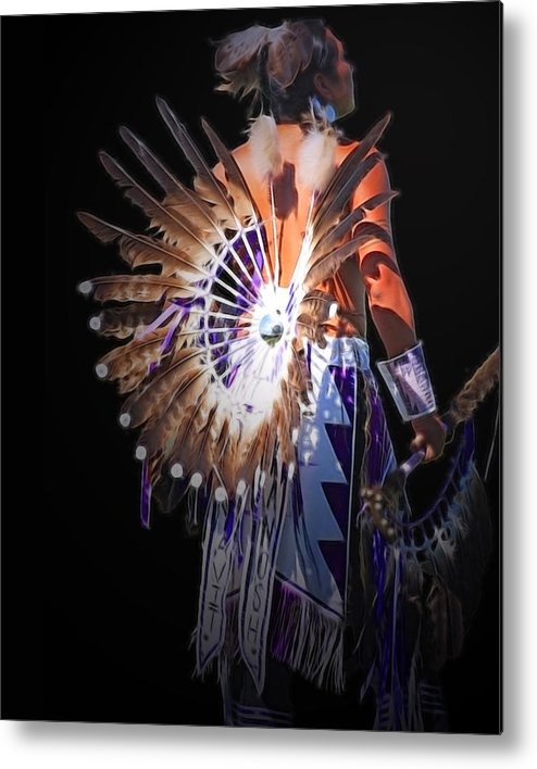 Native Metal Print featuring the photograph Native Spirit by Gene Praag
