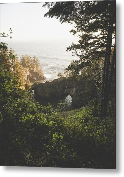 Oregon Metal Print featuring the photograph Natural Bridges Cove by Chad Gray
