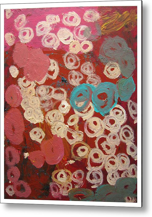 Abstract Metal Print featuring the mixed media Natural Formation by Kim Putney