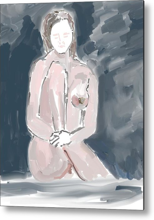 Art Metal Print featuring the painting Nude Model 4 by Carlos Camus