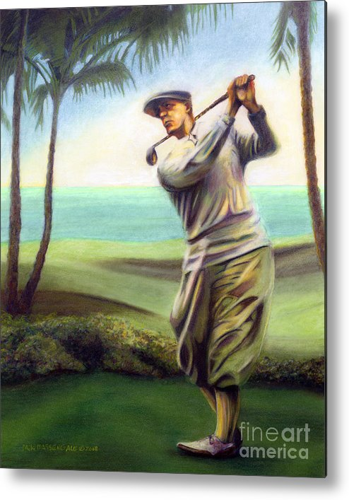 Golf Art Metal Print featuring the painting Ocean Drives by Mike Massengale