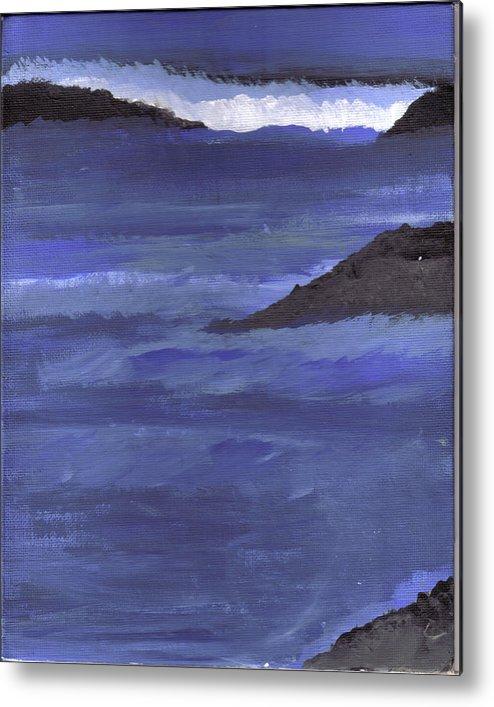 Metal Print featuring the painting Ocean View by Lynnette Jones