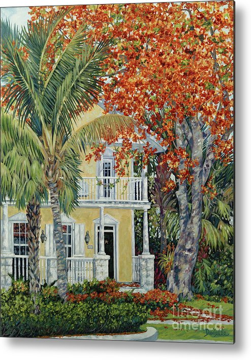 Tamarind Tree Metal Print featuring the painting Old Flame by Danielle Perry