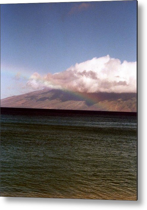 Rainbow Metal Print featuring the photograph Over The Rainbow by Jennifer Ott