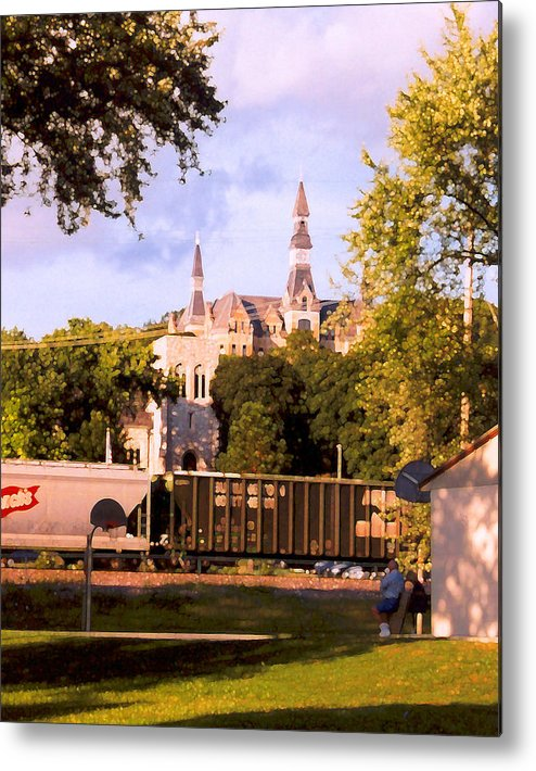 Landscape Metal Print featuring the photograph Park University by Steve Karol