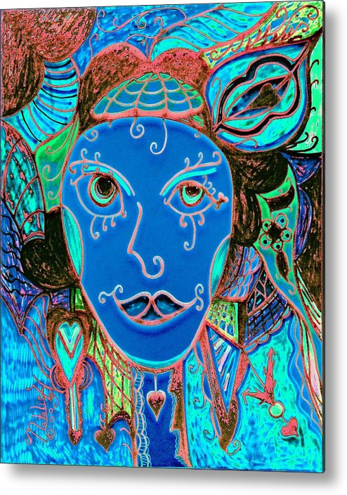 Party Girl Metal Print featuring the painting Party Girl by Natalie Holland