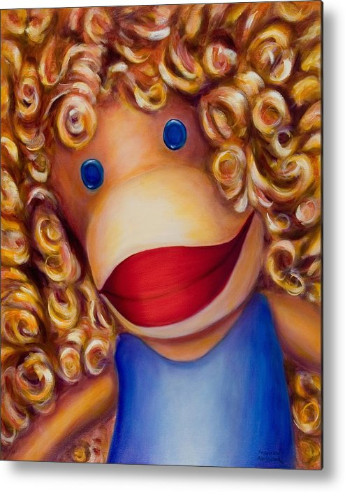 Children Metal Print featuring the painting Patricia by Shannon Grissom