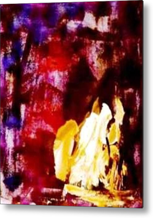 Abstract Metal Print featuring the painting Patriot Act I by Bruce Combs - REACH BEYOND