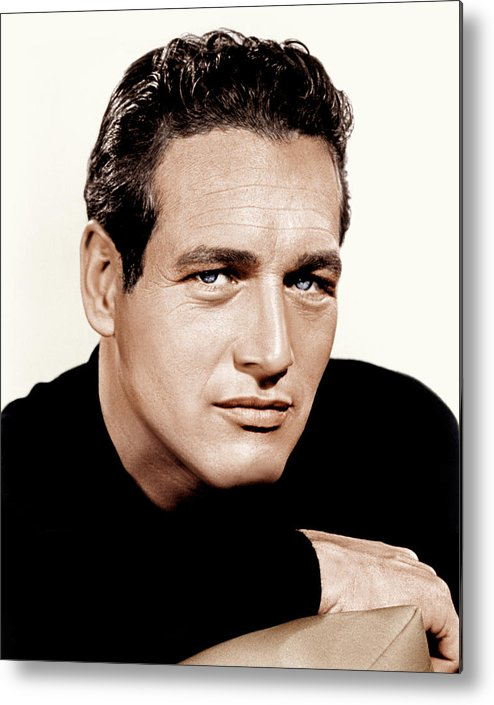 1960s Portraits Metal Print featuring the photograph Paul Newman, Ca. 1963 by Everett