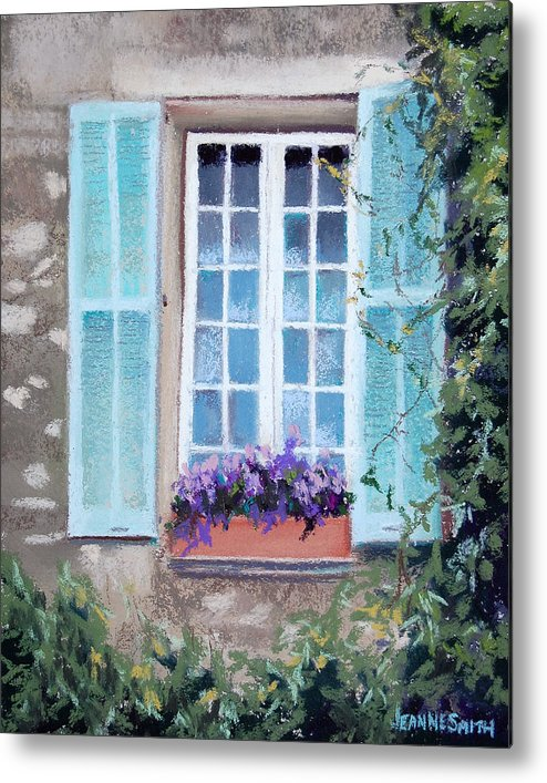 Provence Metal Print featuring the pastel Perched Purples by Jeanne Rosier Smith