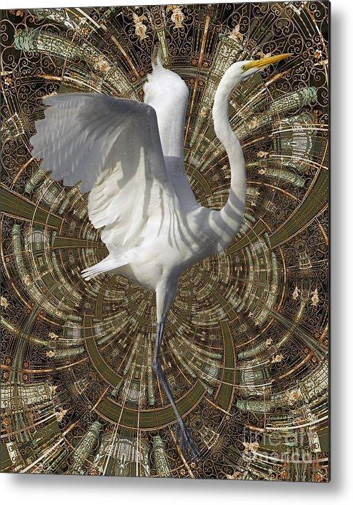 Bird Metal Print featuring the digital art Phoenix Rising by Chuck Brittenham
