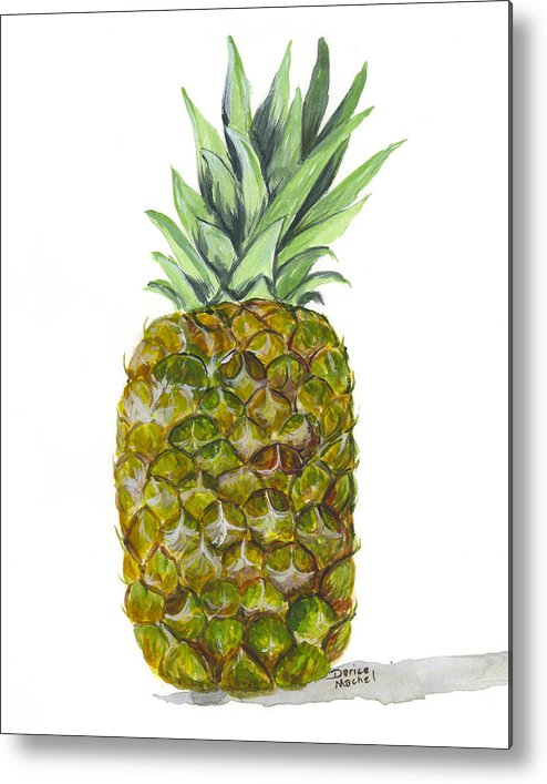 Fruit Metal Print featuring the painting Pineapple by Darice Machel McGuire