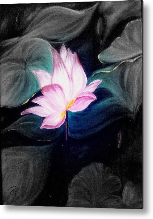 Lotus Metal Print featuring the painting Pink Lotus by Dina Holland