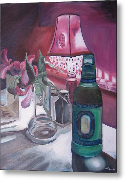 Still Life Metal Print featuring the painting Pink Shade by Ashly Eaton