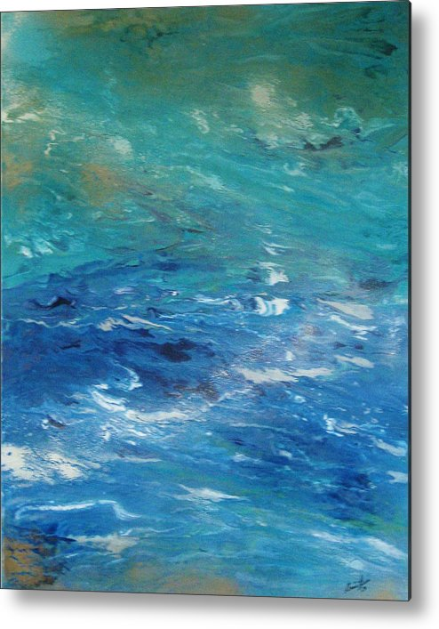 Contemporary Sea Metal Print featuring the painting Plongee Dans Le Merveilleux by Annie Rioux