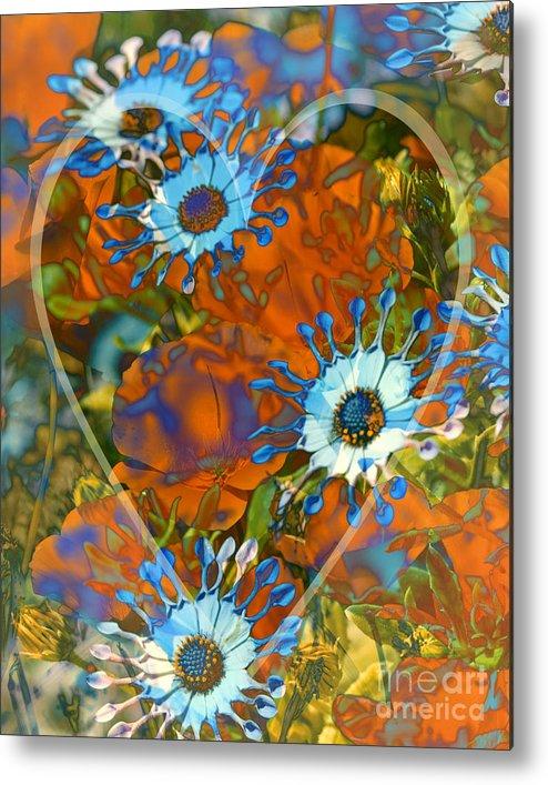 Floral Metal Print featuring the digital art Poppy Love by Chuck Brittenham