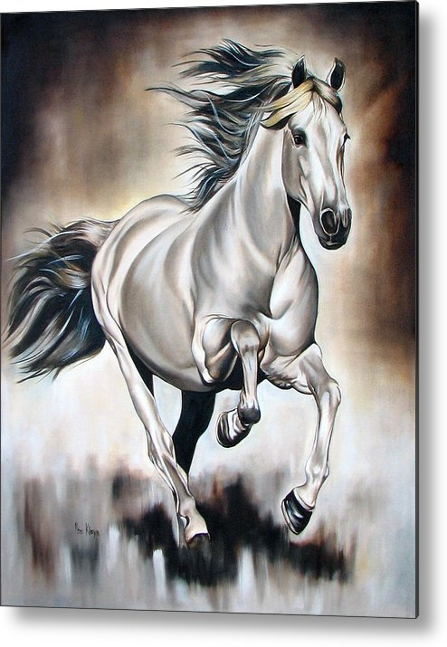 Horse Metal Print featuring the painting Power by Ilse Kleyn