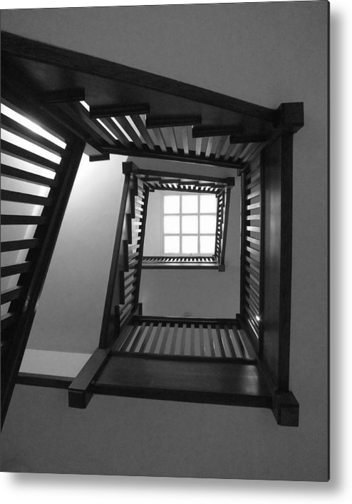 Chicago Metal Print featuring the photograph Prairie House Stairs by Anna Villarreal Garbis