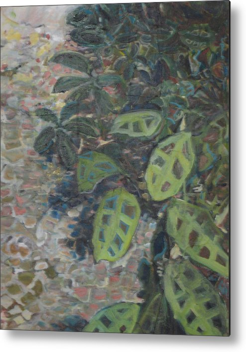 Garden Metal Print featuring the painting Prayer Plant by Alicia Kroll
