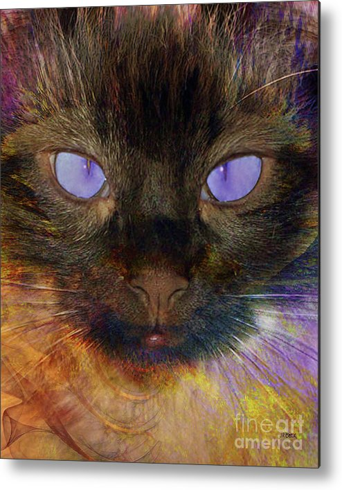 Queen Of Siam Metal Print featuring the digital art Queen Of Siam by John Beck