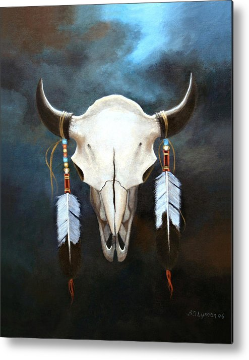 Symbolic Metal Print featuring the painting Relic Of The Plains by Brooke Lyman