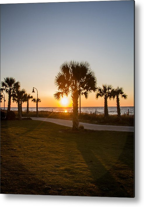 Landscape Metal Print featuring the photograph Rise And Shine by Barbara Blanchard