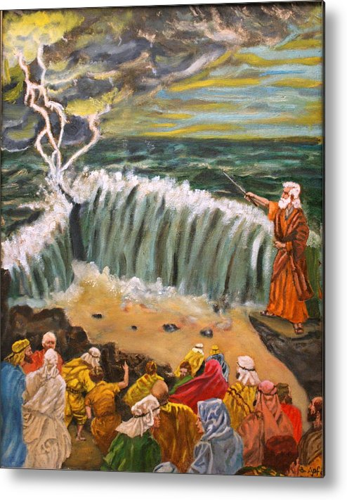 Moses Metal Print featuring the painting Safe Passage by Gloria M Apfel