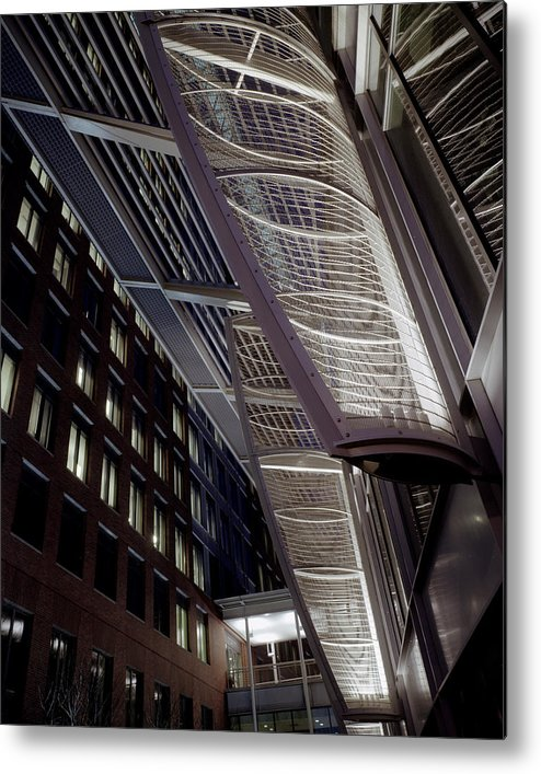 Architecture Metal Print featuring the photograph Seaport2 by Robert Ruscansky