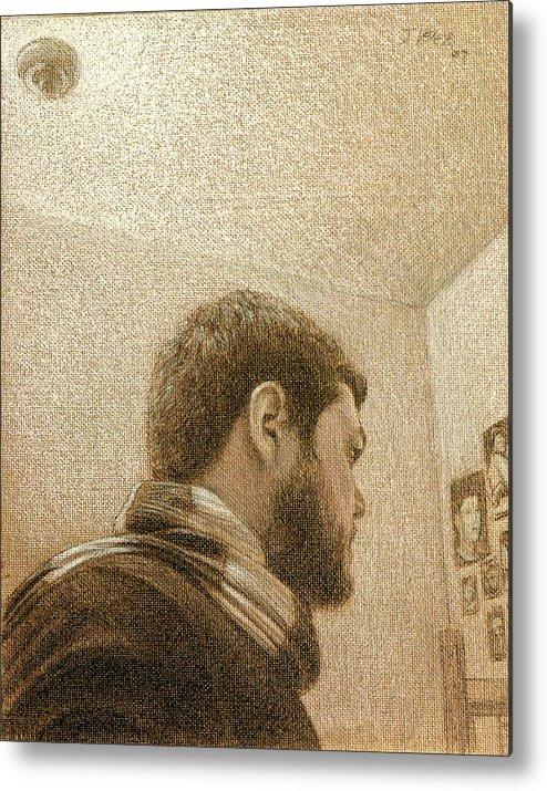 Metal Print featuring the painting Self by Joe Velez