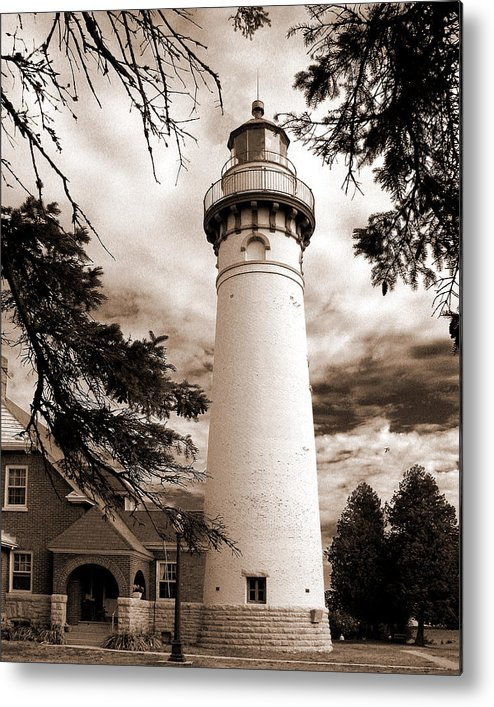 Lighthouse Metal Print featuring the photograph Seul Choix Point Lghthouse Mi by Rich Stedman