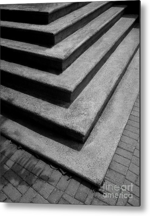 Shadow Metal Print featuring the photograph Shadow And Steps by Perry Webster