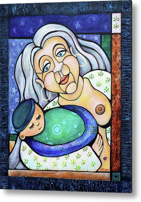 Gaia Metal Print featuring the painting Shes Got The Whole World In Her Hands by Rachel M Cotton