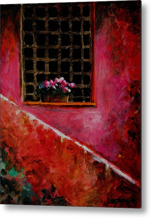 Window Metal Print featuring the painting Sicilian Window by Jun Jamosmos