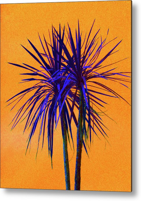 Palm Metal Print featuring the photograph Silhouette On Orange by Margaret Saheed