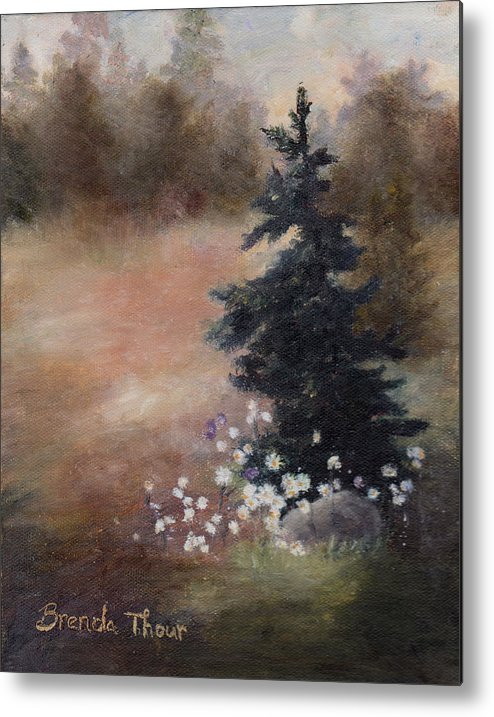 Pine Metal Print featuring the painting Simplicity by Brenda Thour