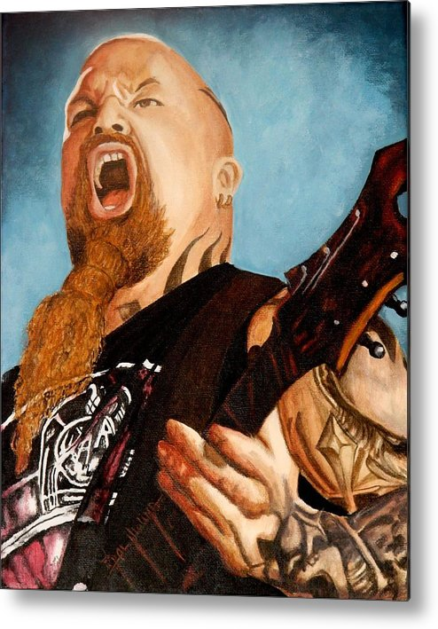 Slayer Metal Print featuring the painting Slayer King by Al Molina