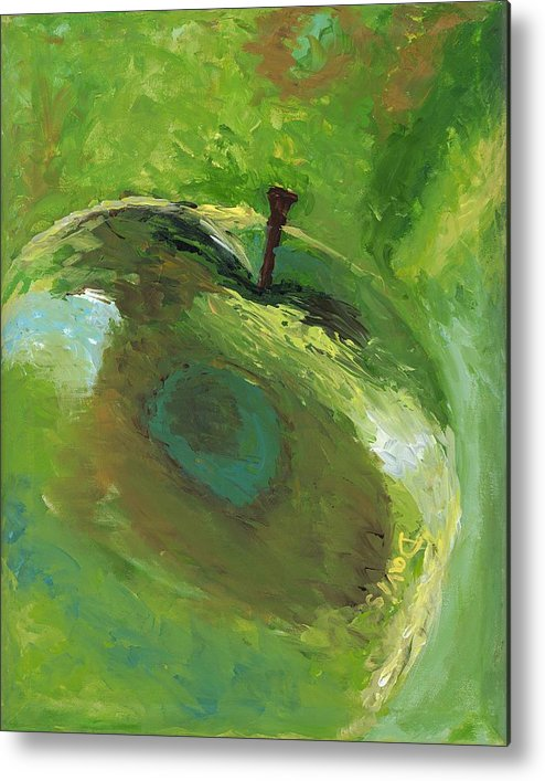 Food Metal Print featuring the painting Snazzy Apple by Davis Elliott