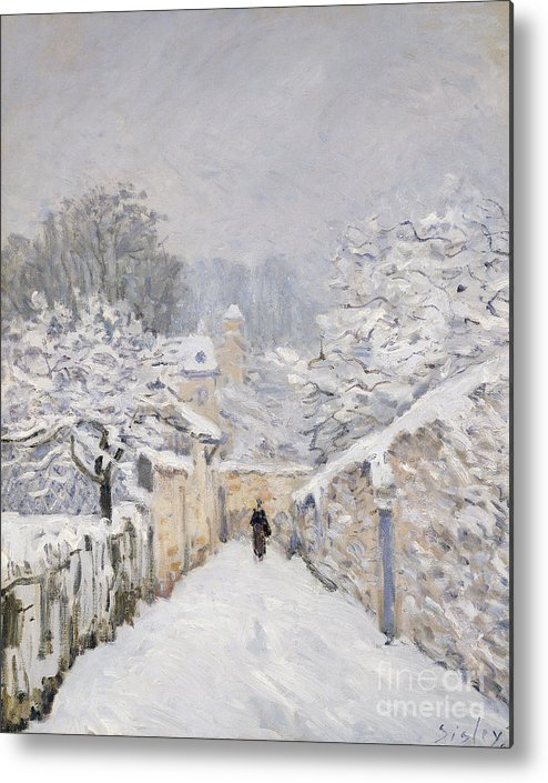 Snow Metal Print featuring the painting Snow At Louveciennes by Alfred Sisley