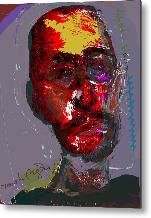 Self Portrait Metal Print featuring the painting Sp82708 by Noredin Morgan
