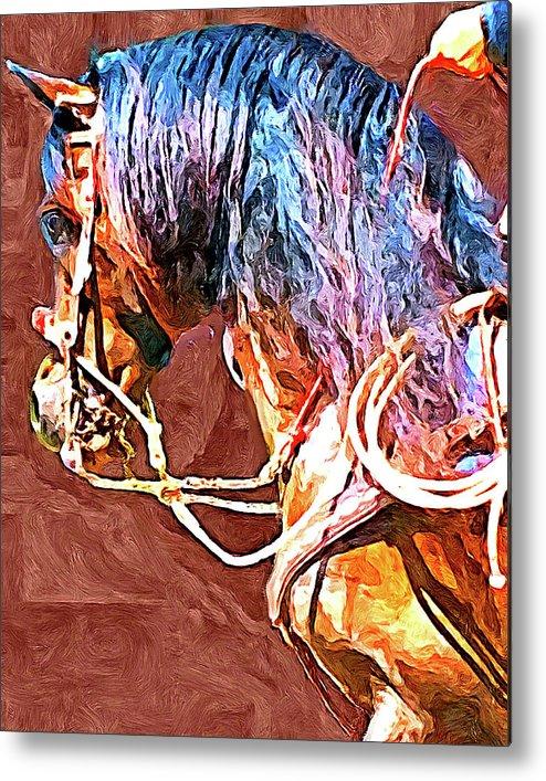 Horse Metal Print featuring the digital art Spanish Horse by Lynn A Marie