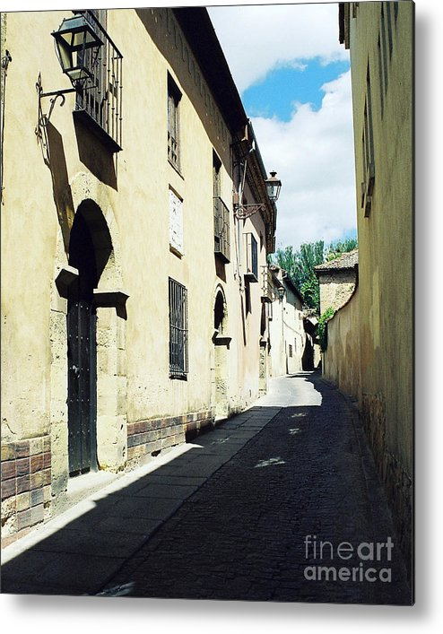 Street Metal Print featuring the photograph Spanish Narrow Street by Trude Janssen