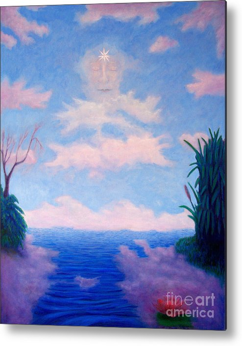 Buddha Metal Print featuring the painting Spirit Of The Lake by Brian Commerford