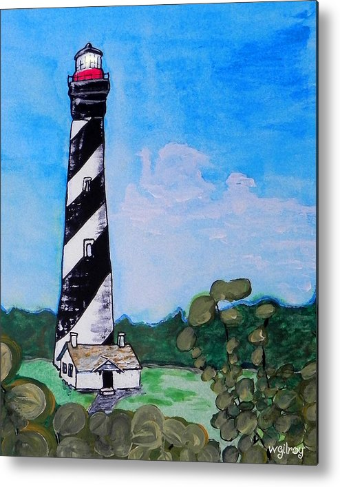 St Augustine Lighthouse Metal Print featuring the painting St. Augustine Lighthouse by W Gilroy