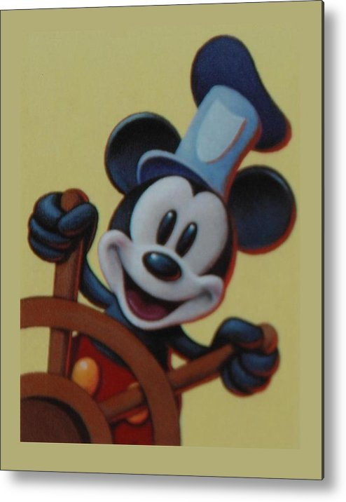 Disney Metal Print featuring the photograph Steamboat Willy by Rob Hans