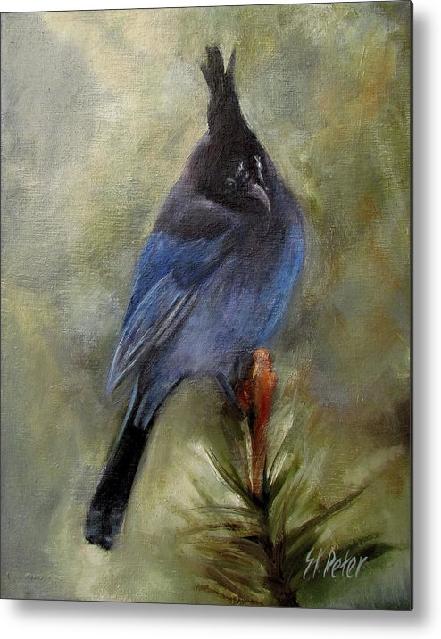Mountain Metal Print featuring the painting Stellar Of A Bird by Mary St Peter