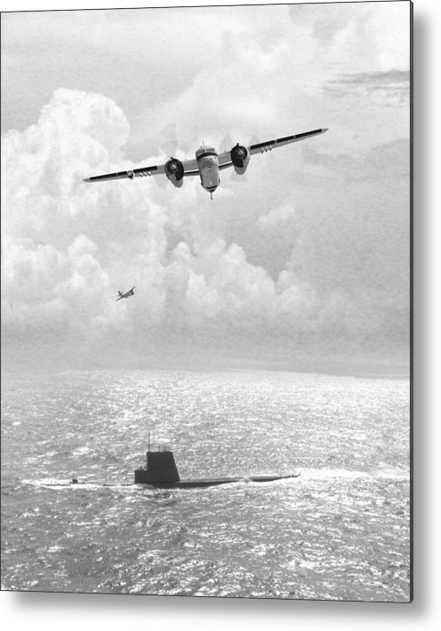 Aviation Metal Print featuring the digital art Stoof Over Sub by Mike Ray