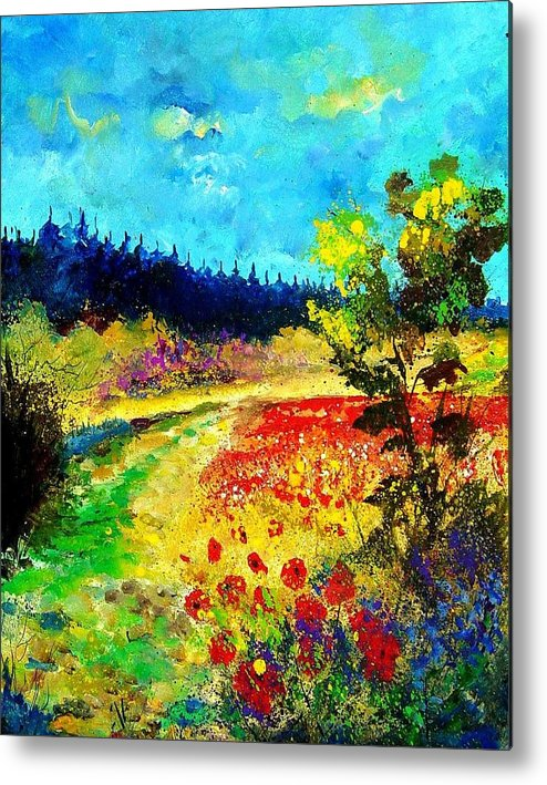 Flowers Metal Print featuring the painting Summer by Pol Ledent